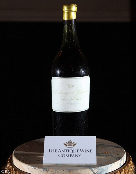 1811 Bottle of White Wine Sells for Record $121,000.