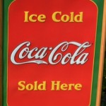 "image, ""Ice Cold Coca Cola Sold Here Sign"""