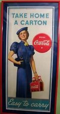 Take Home A Carton Easy To Carry Coca Cola Sign