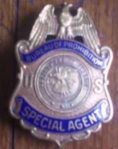 PROHIBITION BUREAU justice treasury department VINTAGE SPECIAL AGENT BADGE