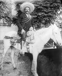 Pancho Villa on his Horse Saddle