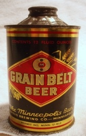 1936 Grain Belt Cone Top Can