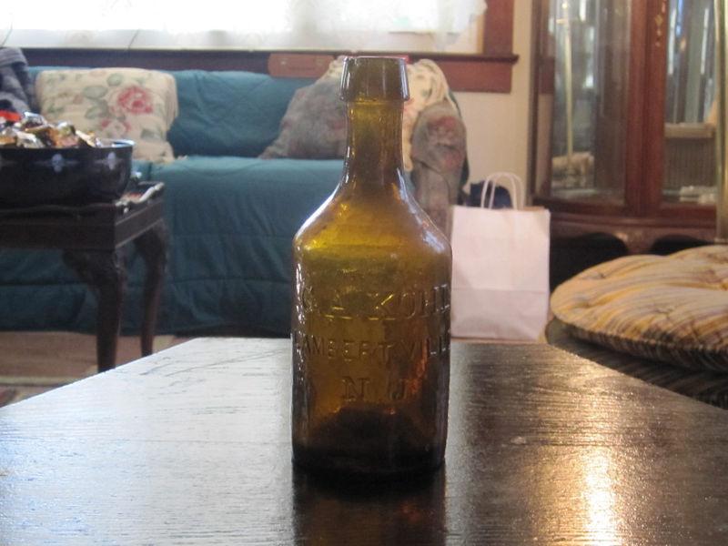 1840 1845 Rare Amber Bottle Sells For 6 Greatest