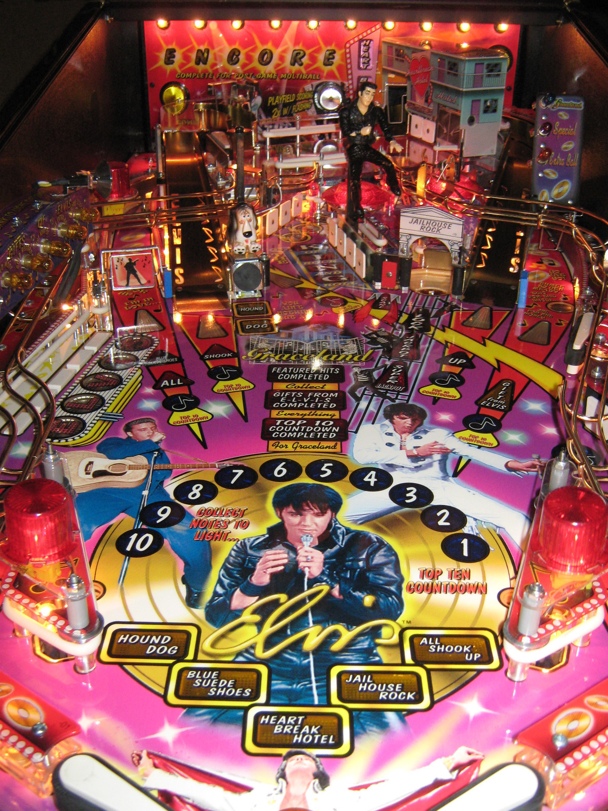Elvis Gold Coin Pinball Machine Sold For 5 495