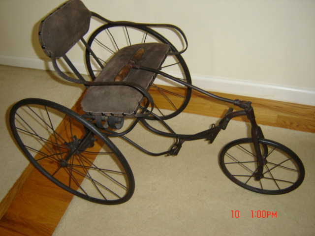 Vintage Tricycle Wheels : Antique tricycle velocipede circa greatest