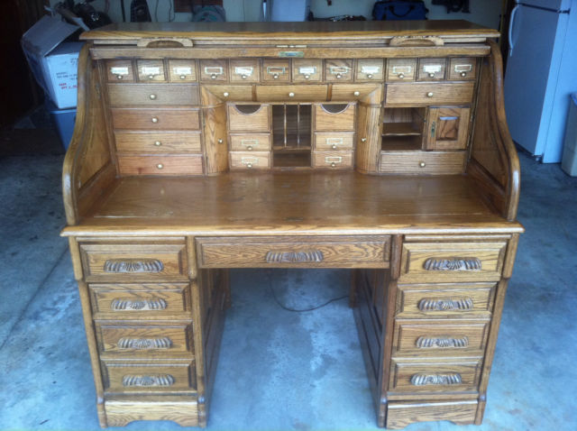 ... Roll Top Desk Vintage ~ 2 Secret Compartments. Print Friendly. Item: ... - RARE Wells Fargo Roll Top Desk Vintage ~ 2 Secret Compartments