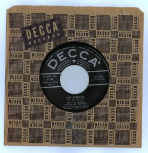 Authentic Ultra Rare Beatles Canada Decca My Bonnie 45 W