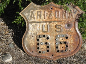 Vintage Arizona Authentic Route 66 Road Sign Greatest