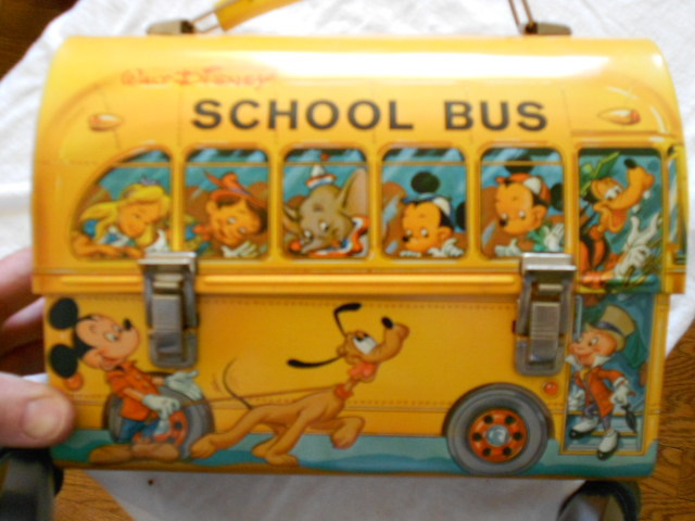f611bed78dc3 1961 Disney School Bus Vintage Lunch Box with Thermos | Greatest ...