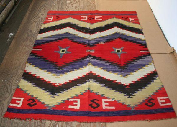 19th Century Navajo Blanket Rug Native American Indian