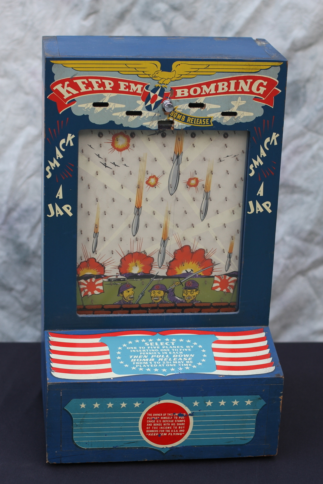 1942 Wwii Atlas Novelty Keep Em Bombing Penny Drop Trade Stimulator Coin Op Game Greatest Collectibles