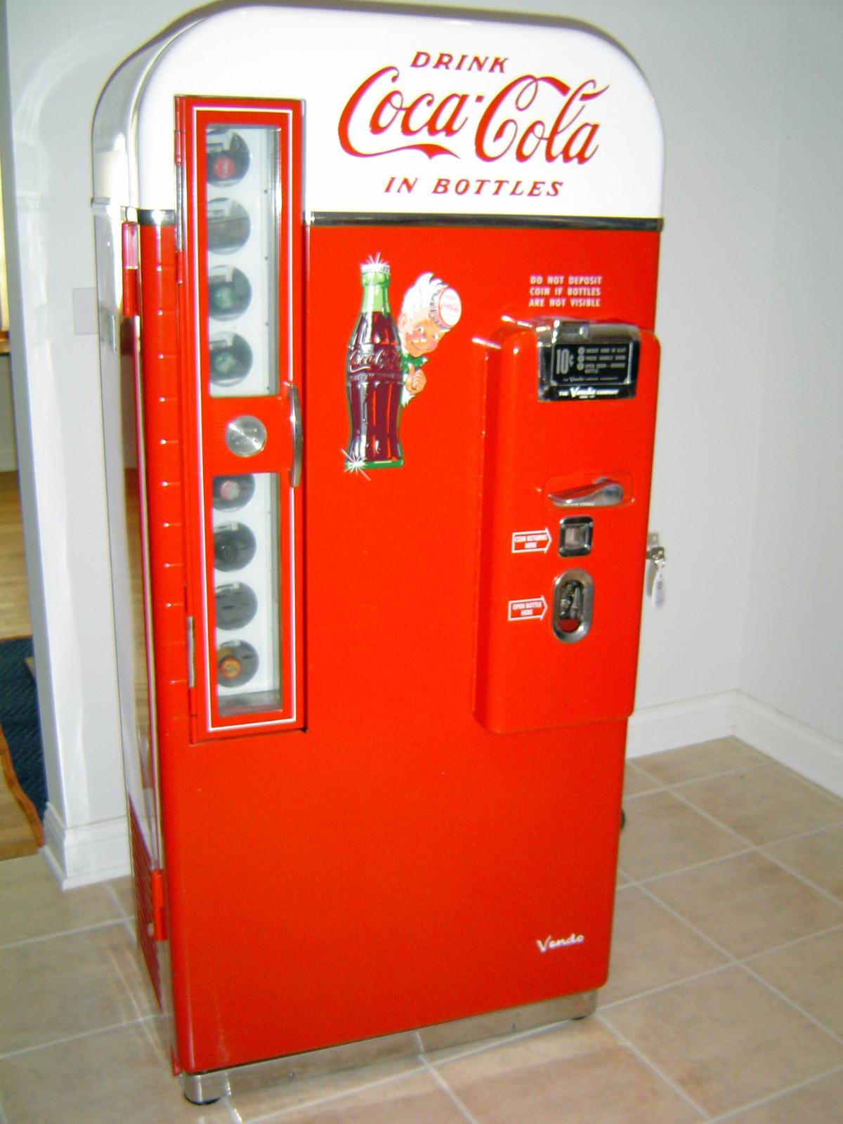 1950s coca cola machine