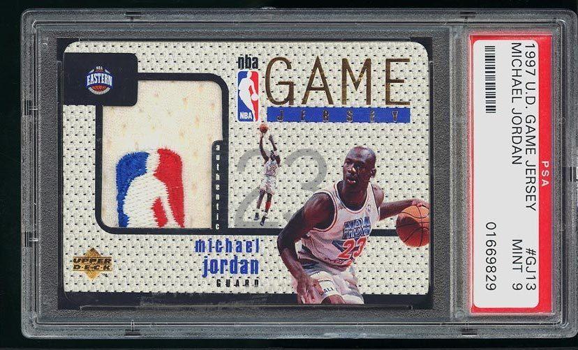 promo code ff8e8 c7803 1997 Ud Game Jersey Michael Jordan NBA Patch #Gj13 Psa 9 ...