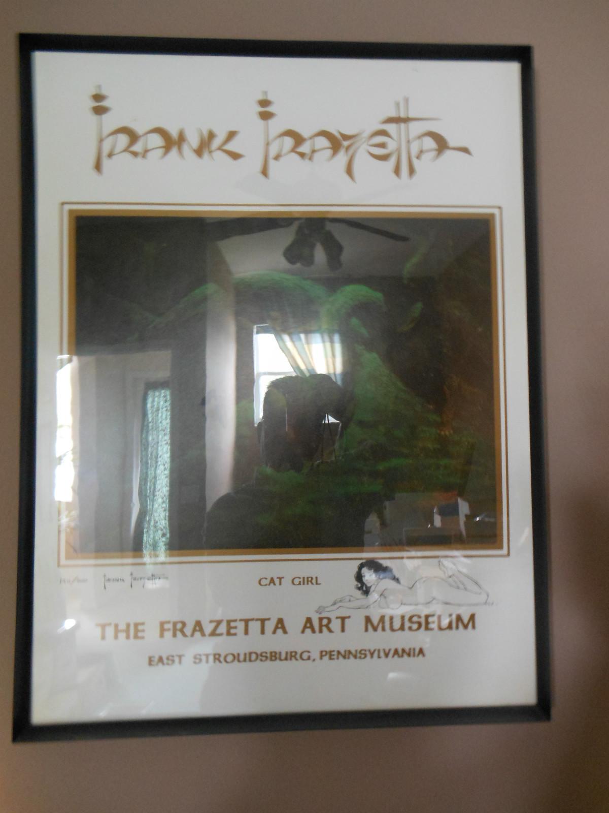 Frank Frazetta Cat Girl Lithograph Signed Pen Sketched