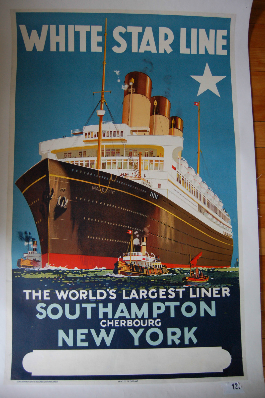 TX232 Vintage White Star Line Majestic Shipping Cruise Travel Poster A2//A3//A4
