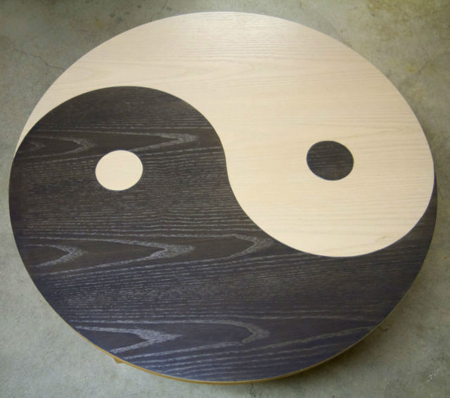 Official ying yang coffee table from the movie fight club for Table yin yang basse