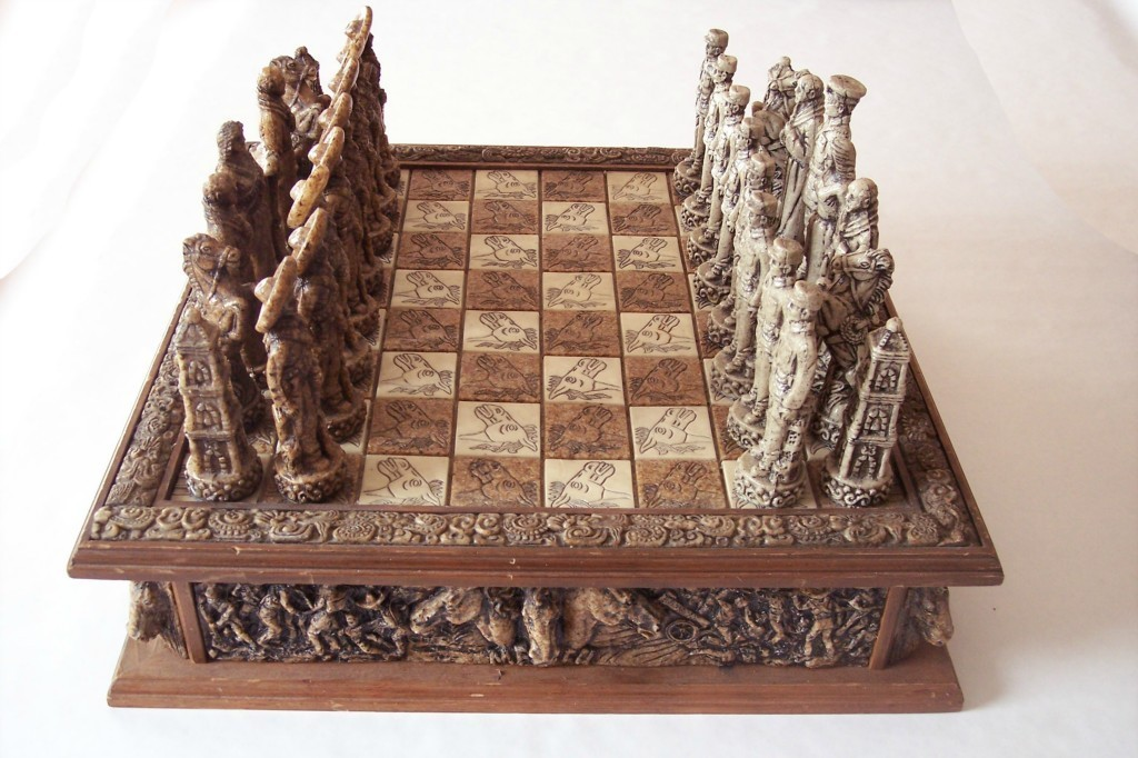 Hand carved stone chess set images - Granite chess pieces ...