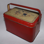 Child's Tin Lithograph School Lunch Box