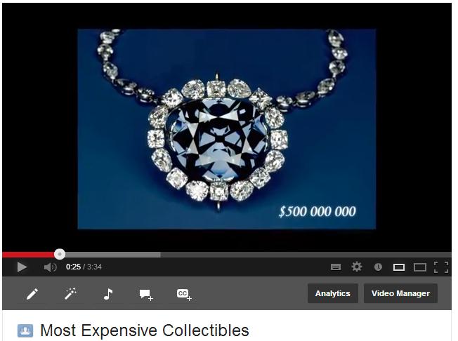 Most Expensive Collectibles Description