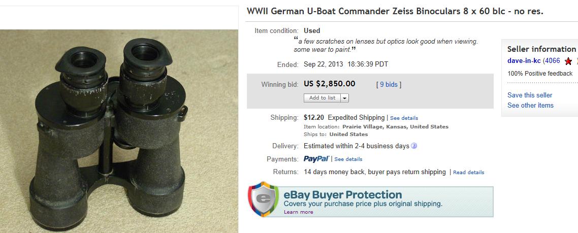 Top Binoculars Sold on eBay September 2013