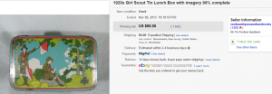 1920s Girl Scout Tin Lunch Box