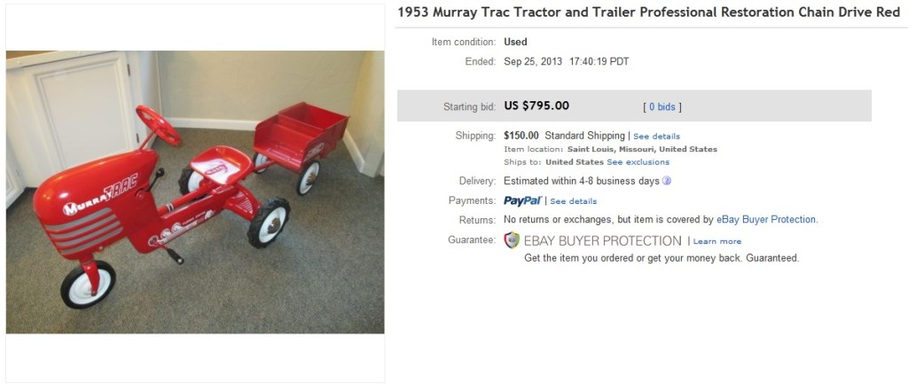 Murray Pedal Tractor Restoration : Pedal cars greatest collectiblessold on ebay page