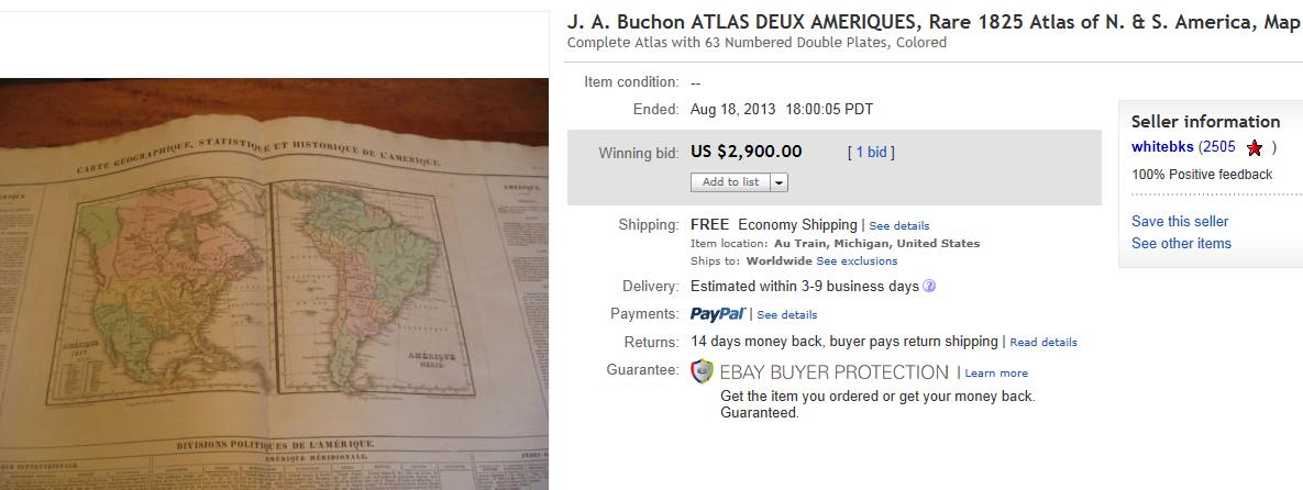 Map Of America Ebay.Top Maps Sold On Ebay September 2013