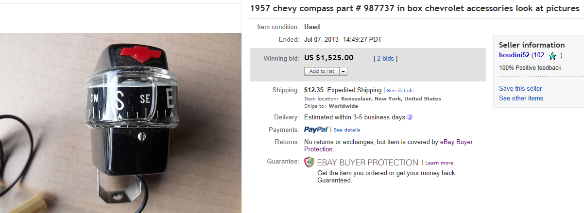 Top Compass Sold On Ebay September 2013