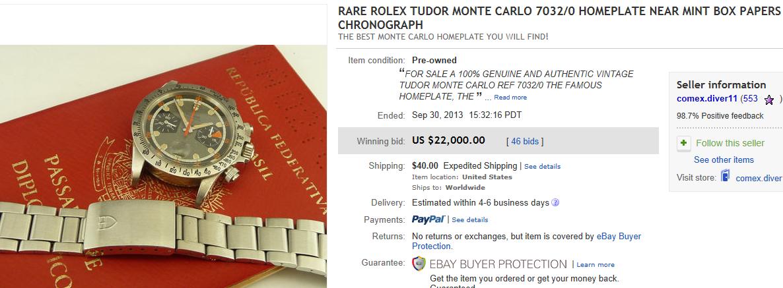Top Rolex Sold On Ebay September 2013