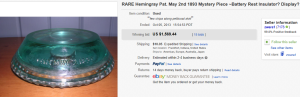 3. Most Expensive Insulator Sold for $1,569.44. on eBay