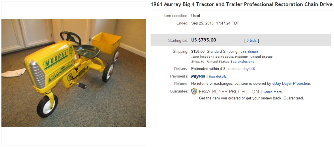 Tractor Chain Drive : Big tractor and trailer sold for on ebay