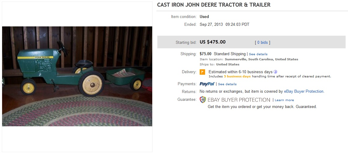 john deere collectibles price guide