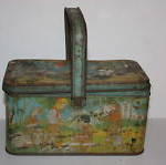 1930's Or 1940's Girl's Scout Tin Lunch Pail Lunch Box