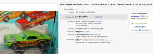 1. Most Expensive Hot Wheel Sold for $1,634.99. on eBay