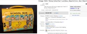 1960′s Disney School Bus Lunch Box Error