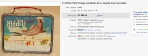 1966 Flipper Lunch Box Error
