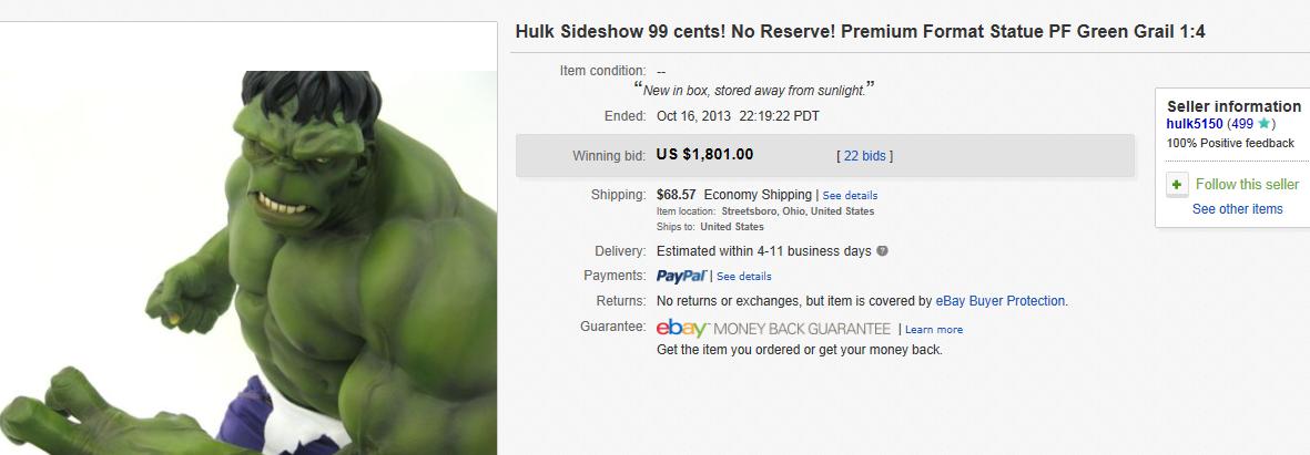 most expensive figurines sold on ebay october 2013. Black Bedroom Furniture Sets. Home Design Ideas