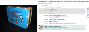 Double Error 1962 Bullwinkle & Rocky / Boston Bruins Lunch Box