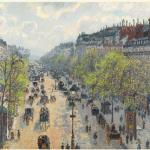 1 Le Boulevard Montmartre, Matinée De Printemps By Camille Pissarro