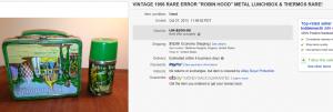 1956 Error Robin Hood Lunch Box
