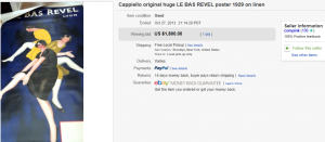 4. Top Poster Sold for $1,800. on eBay