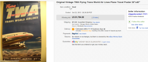 5. Top Poster Sold for $1,784. on eBay