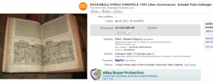 Most Expensive Items Sold on eBay (July 2013)