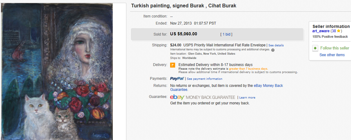 Most Expensive Art (Paintings) Sold on eBay November 2013
