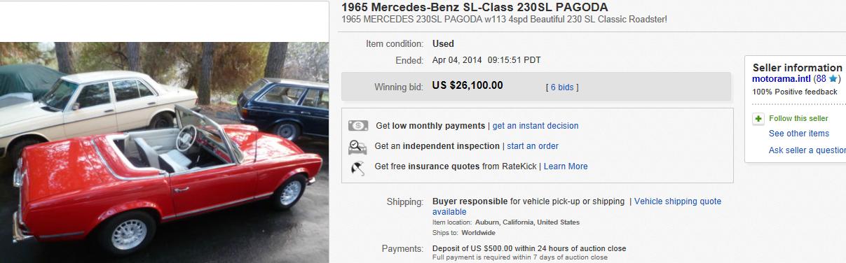 1965 Mercedes Ebay
