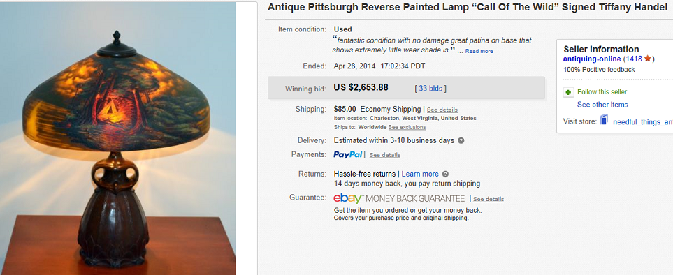 Most Expensive Lamps Sold On Ebay April 2014