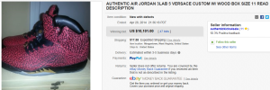 1. Top Shoes Sold for $10,101. on eBay