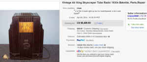 1. Top Radio Sold for $6,489. on eBay