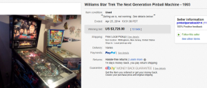 1. Top Star Trek Sold for $3,725. on eBay