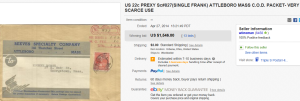 1. Top Stamp Sold for $1,546. on eBay